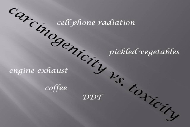 Confusing 'possible carcinogenicity' and 'certain toxicity' of cell phone radiation, coffee, DDT...