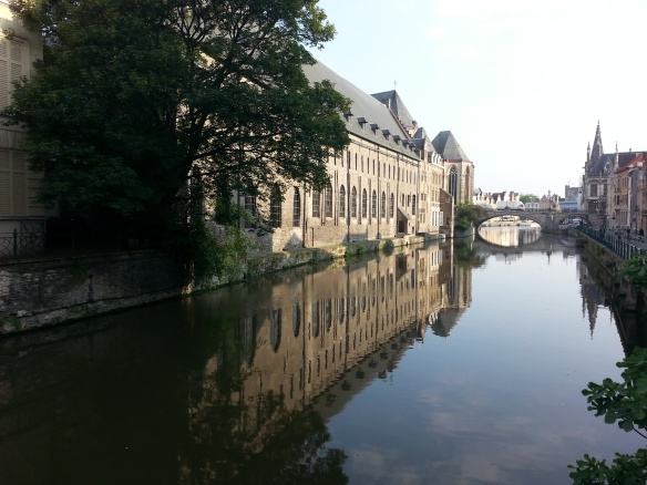 Ghent, conference site seen from the river Leie